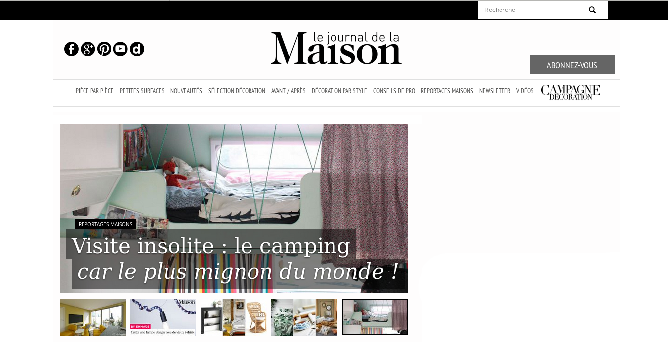 Article paru sur LE JOURNAL DE LA MAISON